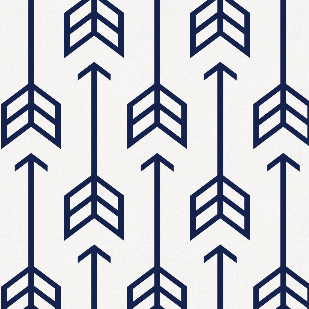 Product image for Navy Arrow Crib Bumper