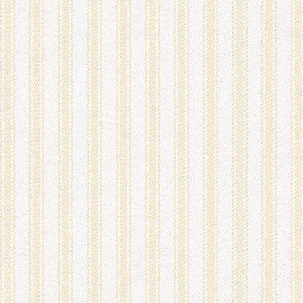 Product image for Pale Yellow Ticking Stripe Toddler Sheet Bottom Fitted