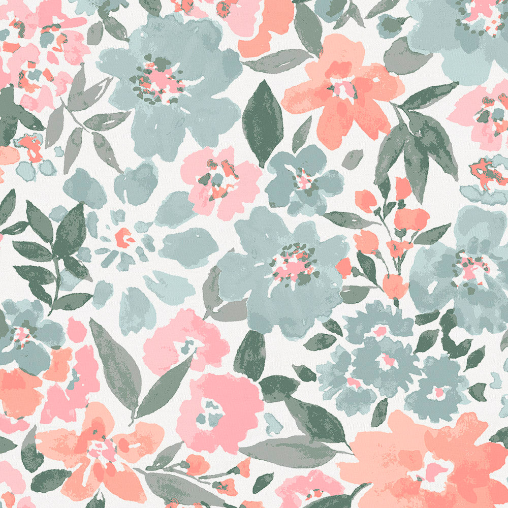 Product image for Peach Prairie Floral Crib Rail Cover
