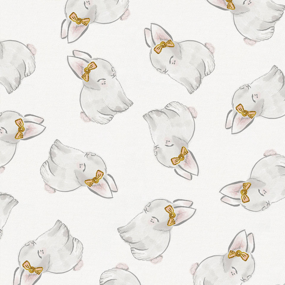 Product image for Painted Bunnies Toddler Sheet Bottom Fitted