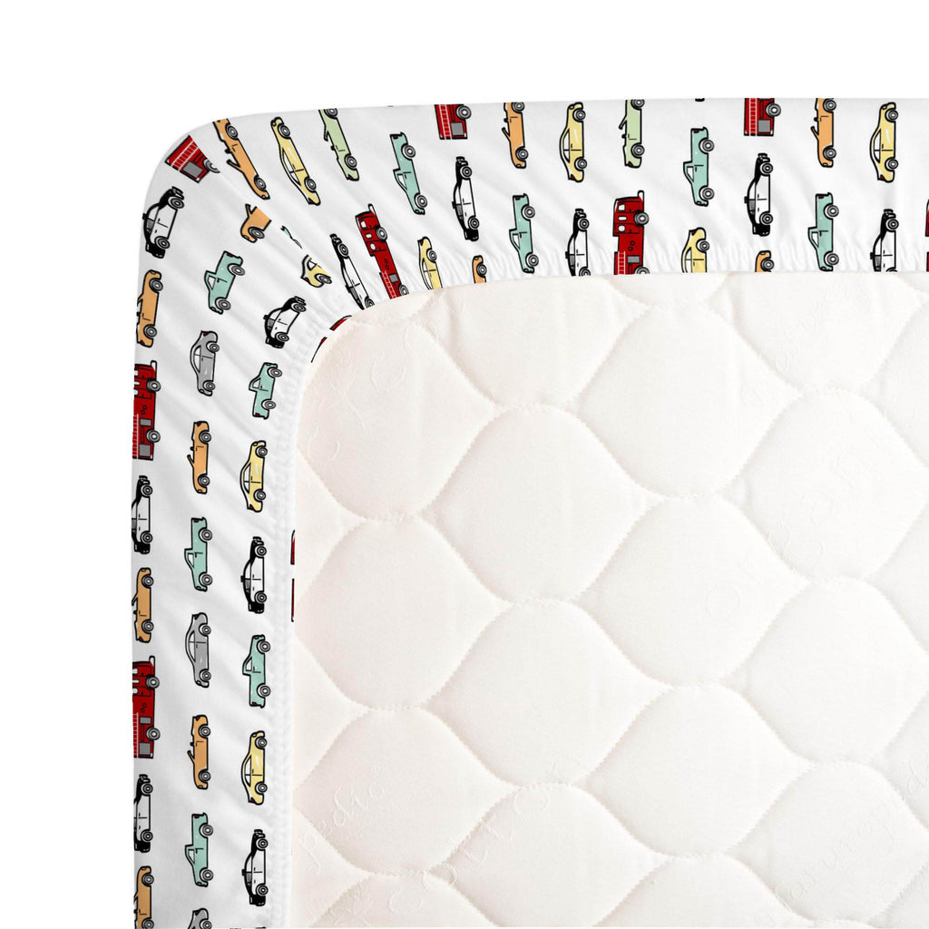 Product image for Modern Cars Crib Sheet