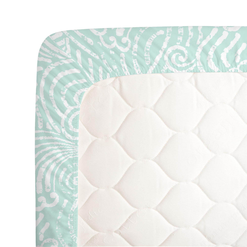 Product image for Icy Mint Seas Crib Sheet