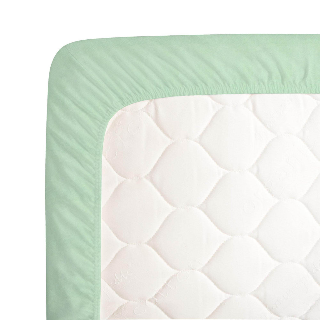 Product image for Solid Mint Minky Crib Sheet