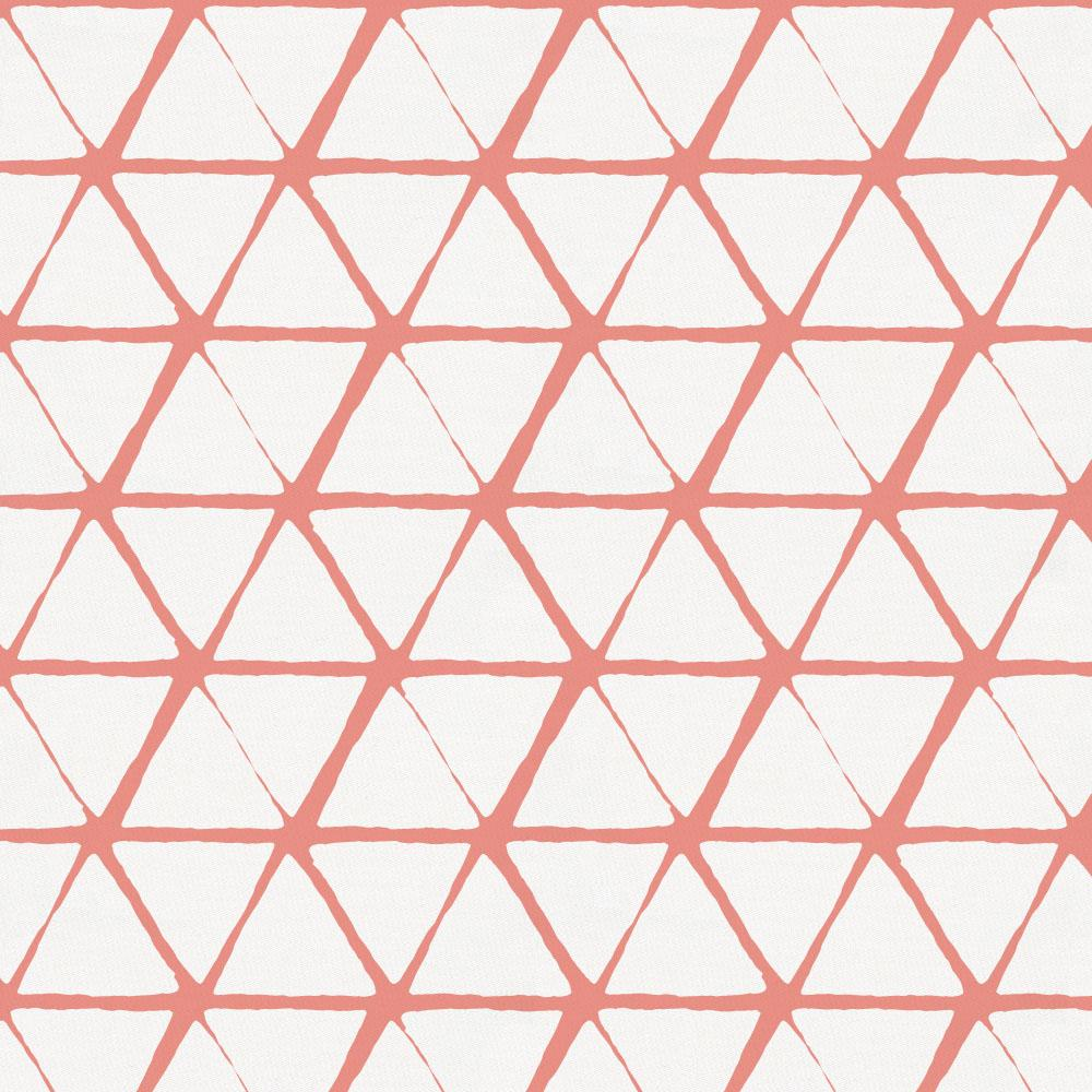 Product image for White and Light Coral Aztec Triangles Toddler Sheet Bottom Fitted