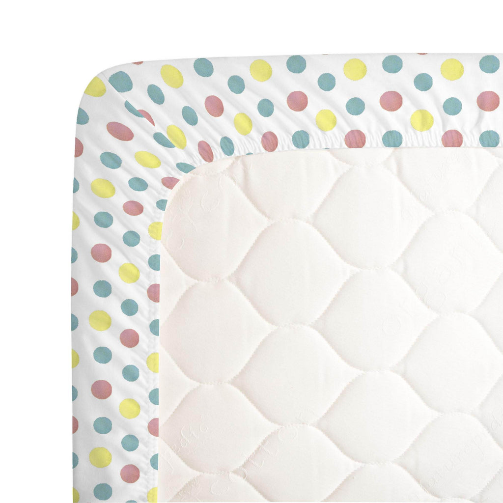 Product image for Disney© Dumbo Dots Crib Sheet