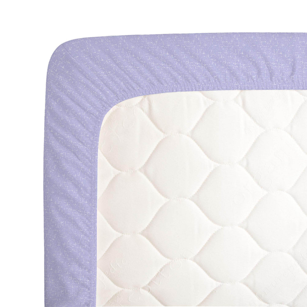 Product image for Lilac Heather Crib Sheet