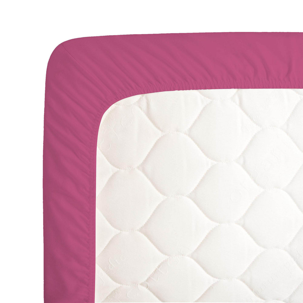 Product image for Solid Fuchsia Crib Sheet