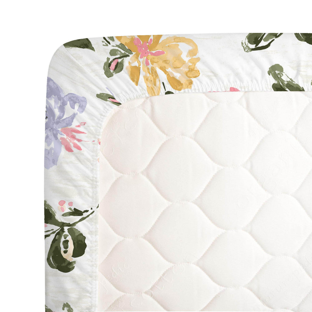 Product image for Coral Pink Garden Crib Sheet