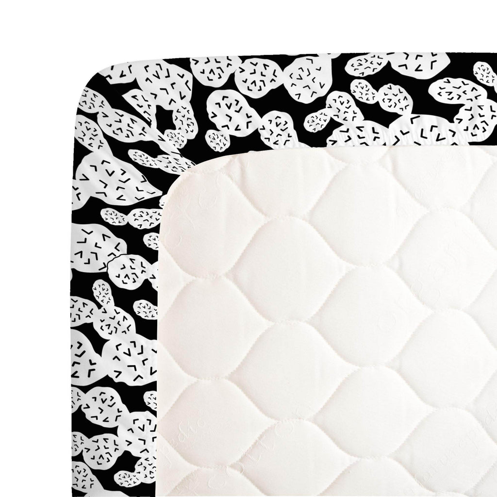 Product image for Onyx Prickly Pear Crib Sheet