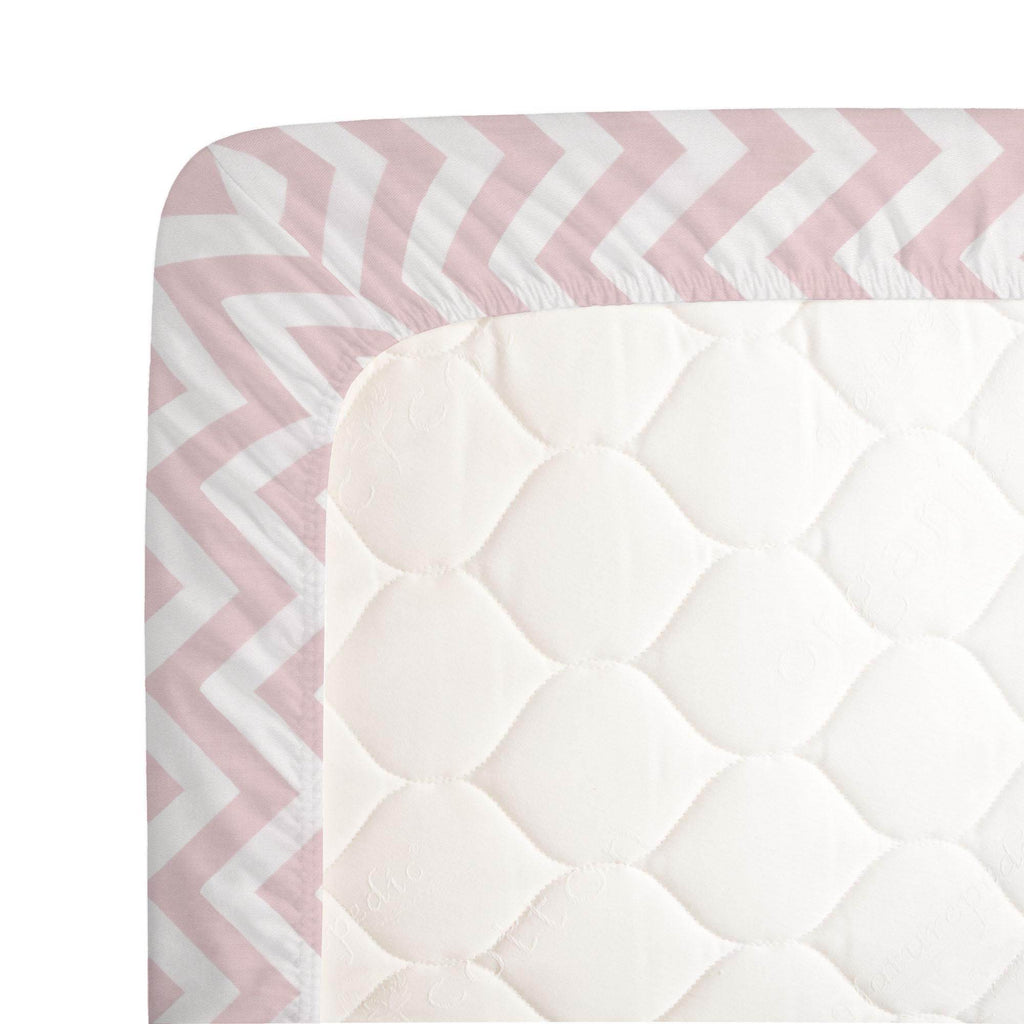 Product image for Pink Zig Zag Crib Sheet