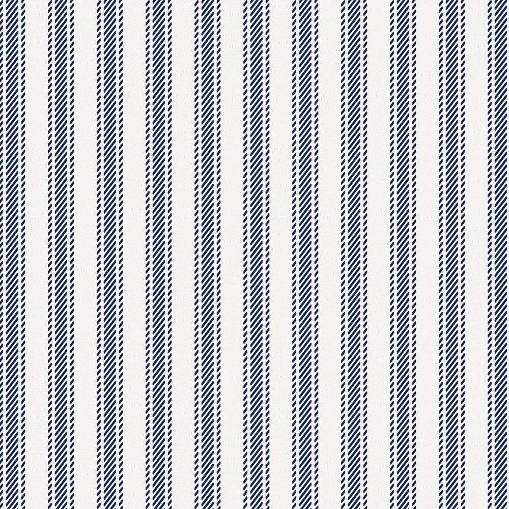 Product image for Windsor Navy Ticking Stripe Toddler Sheet Top Flat