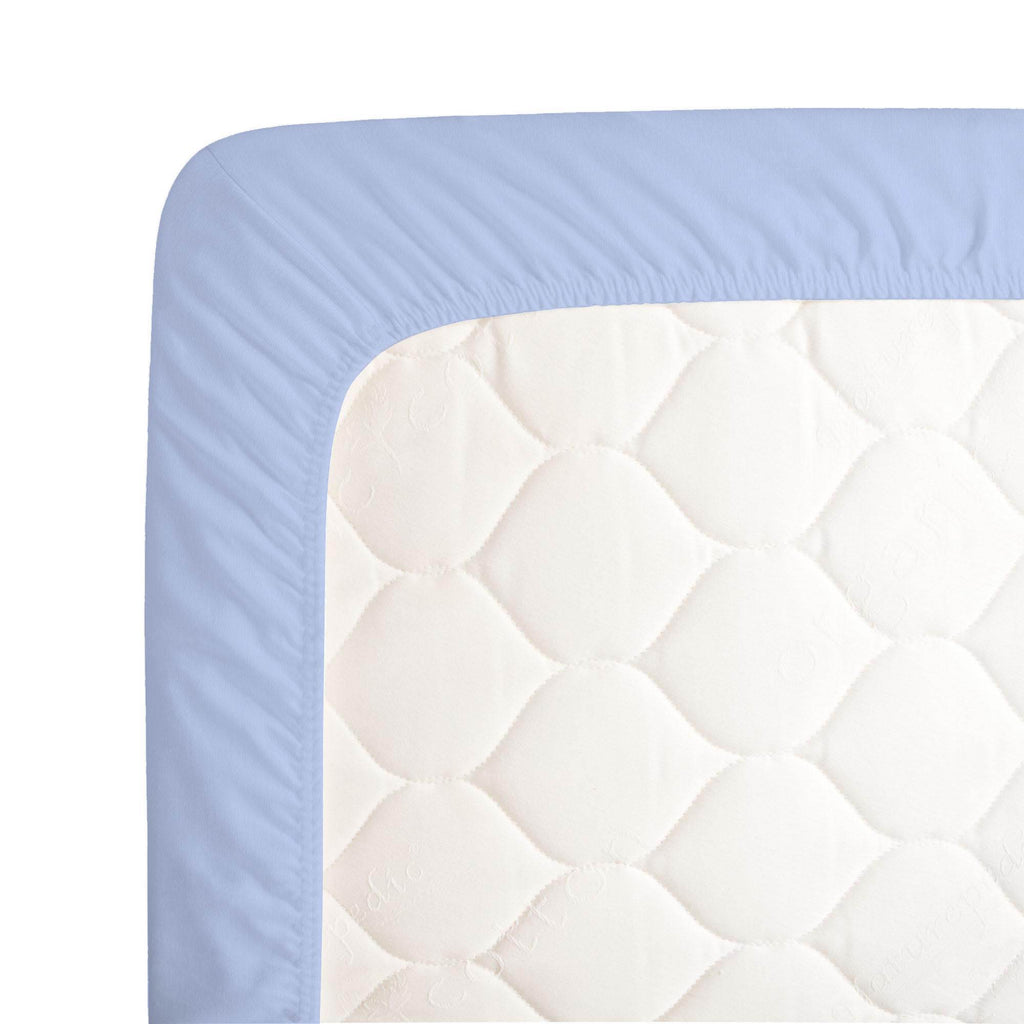 Product image for Ice Blue Crib Sheet