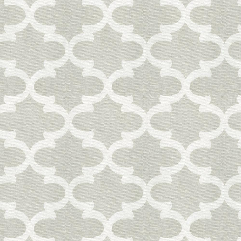 Product image for French Gray Quatrefoil Crib Rail Cover