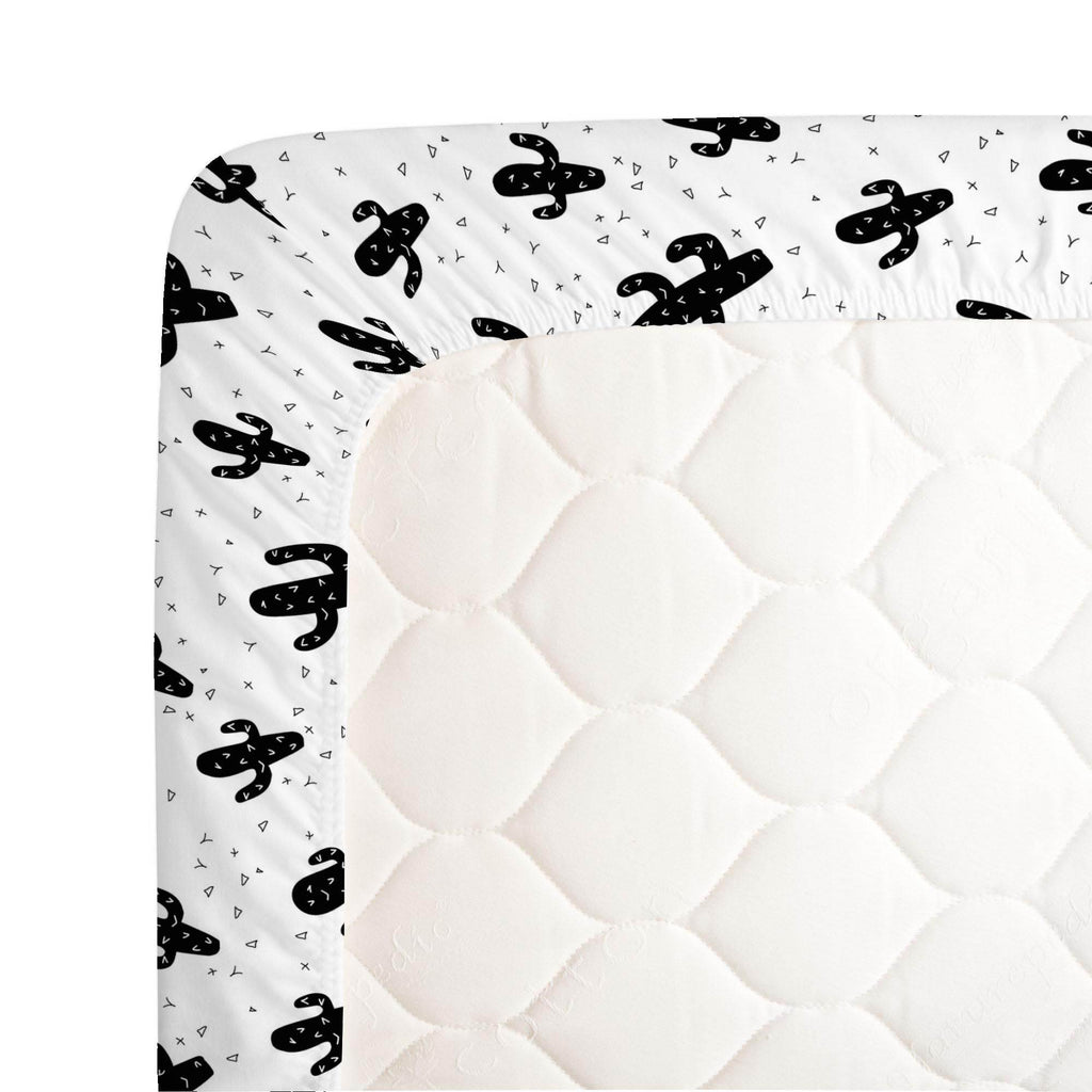 Product image for Onyx Cactus Crib Sheet