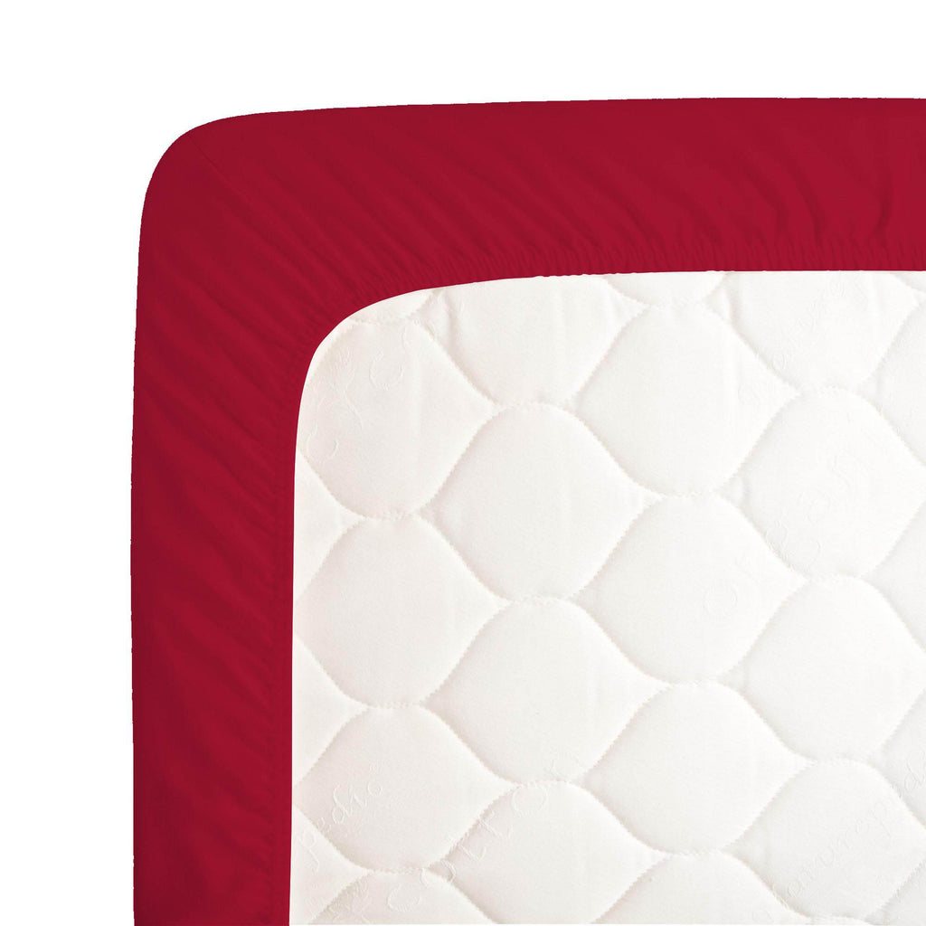 Product image for Solid Red Crib Sheet