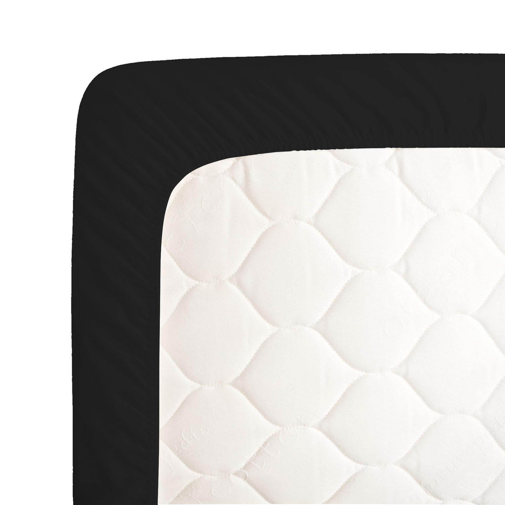 Product image for Solid Black Crib Sheet