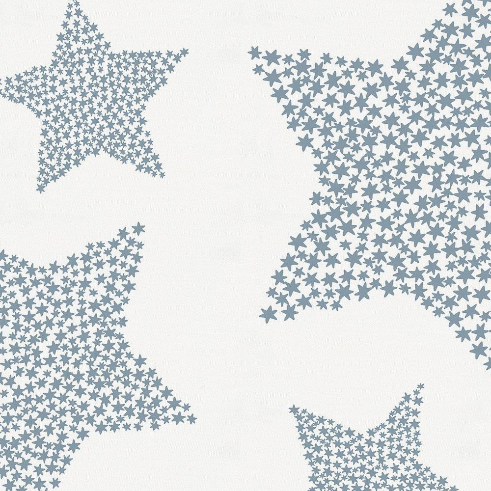 Product image for Steel Blue Galaxy Stars Toddler Pillow Case