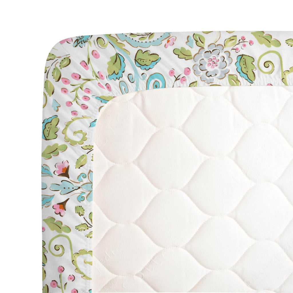 Product image for Love Bird Damask Crib Sheet