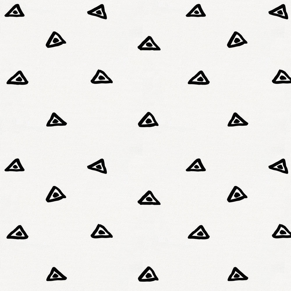 Product image for Onyx Triangle Dots Toddler Pillow Case