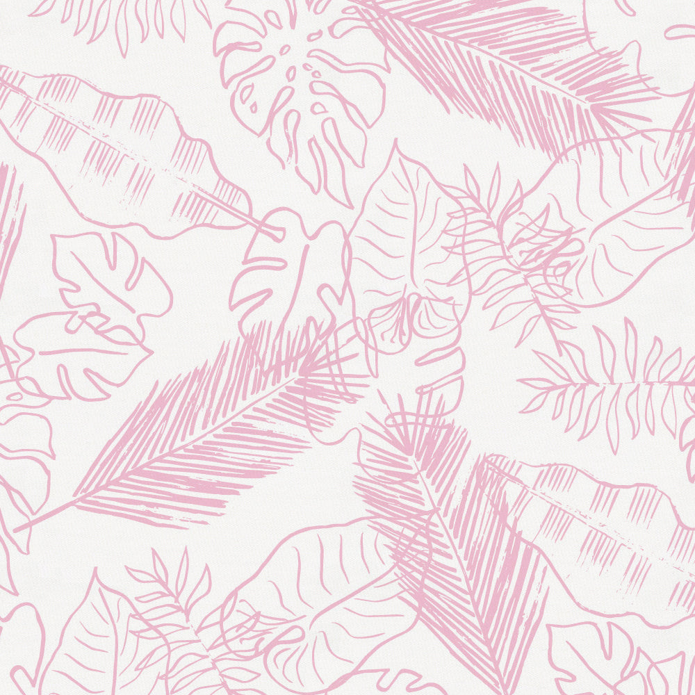 Product image for Bubblegum Palm Leaves Toddler Sheet Bottom Fitted