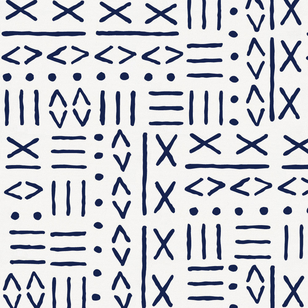 Product image for Navy Mudcloth Toddler Pillow Case