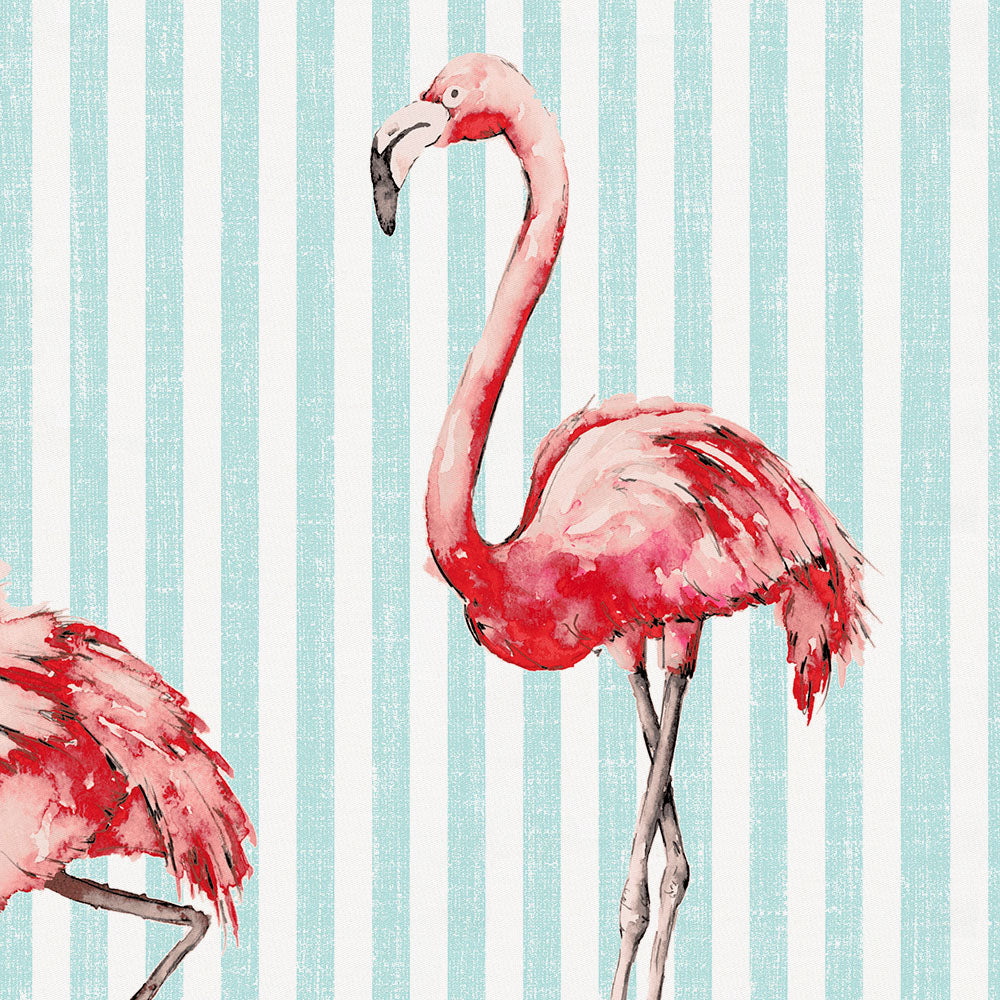 Product image for Flamingo Stripe Toddler Sheet Top Flat