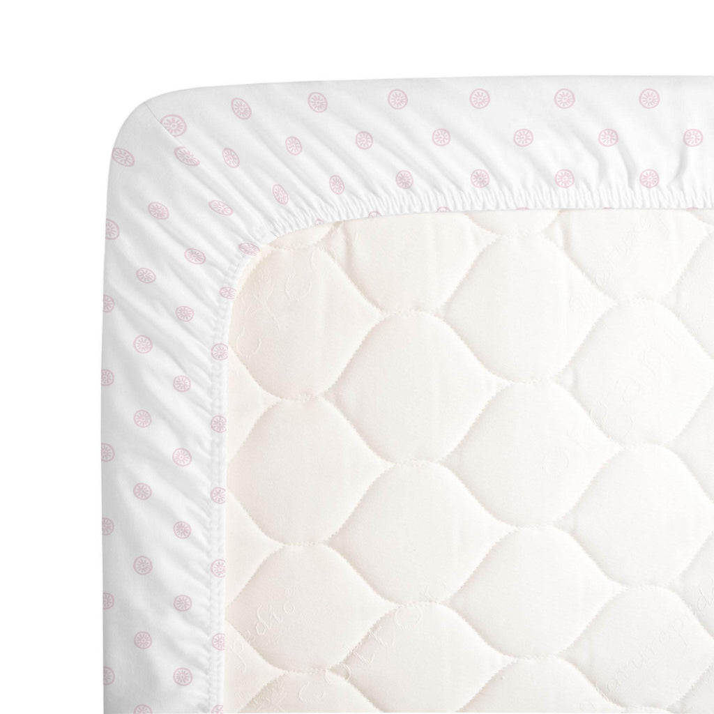 Product image for Pink Ditsy Dot Crib Sheet