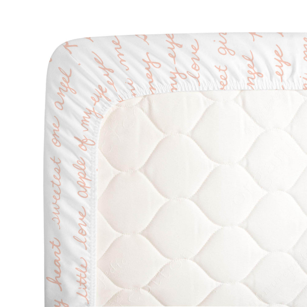Product image for Peach Sweet Girl Crib Sheet