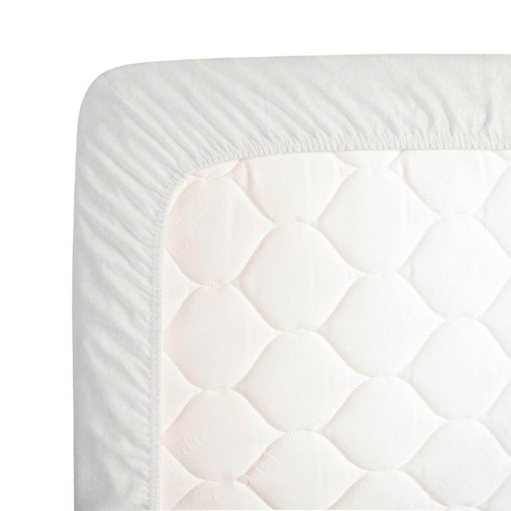 Product image for Solid White Minky Crib Sheet