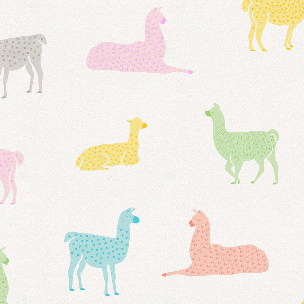 Product image for Colorful Llamas Toddler Sheet Top Flat