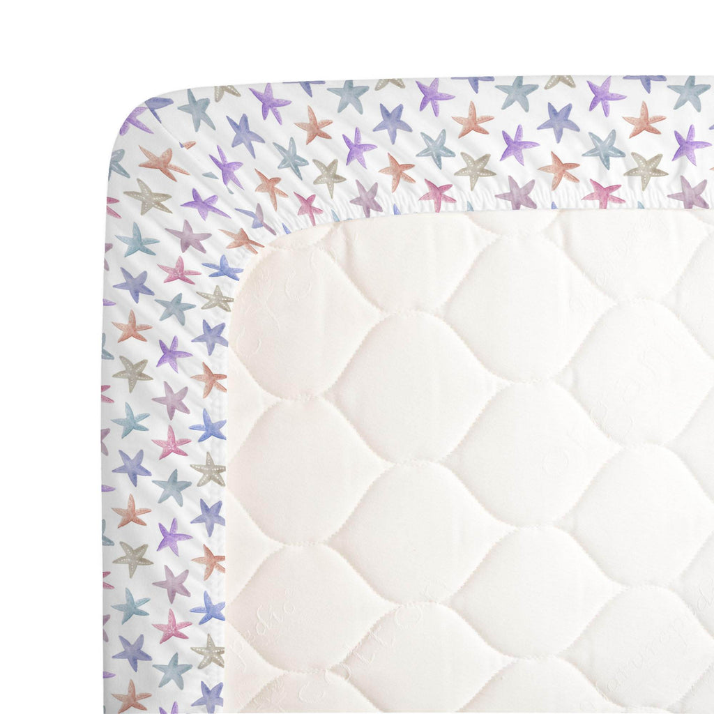 Product image for Watercolor Starfish Crib Sheet