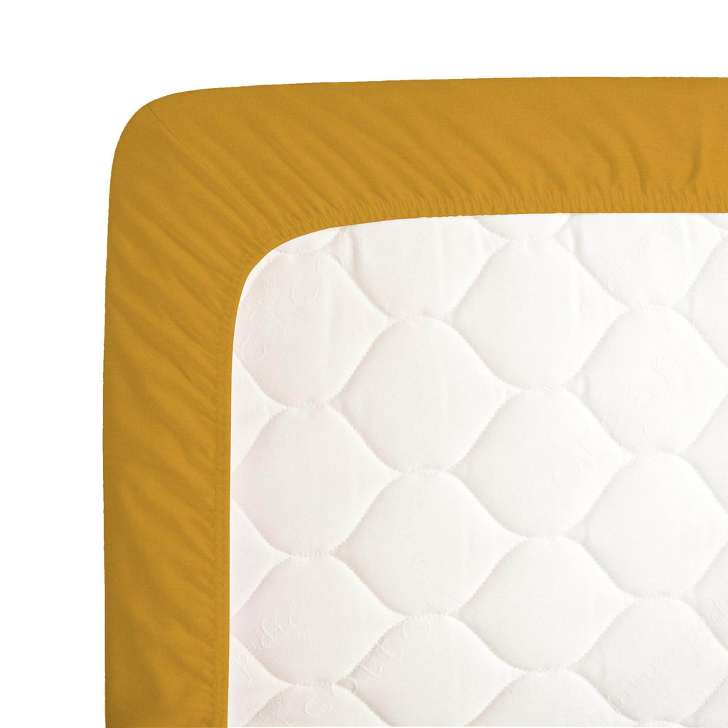 Product image for Solid Mustard Yellow Crib Sheet