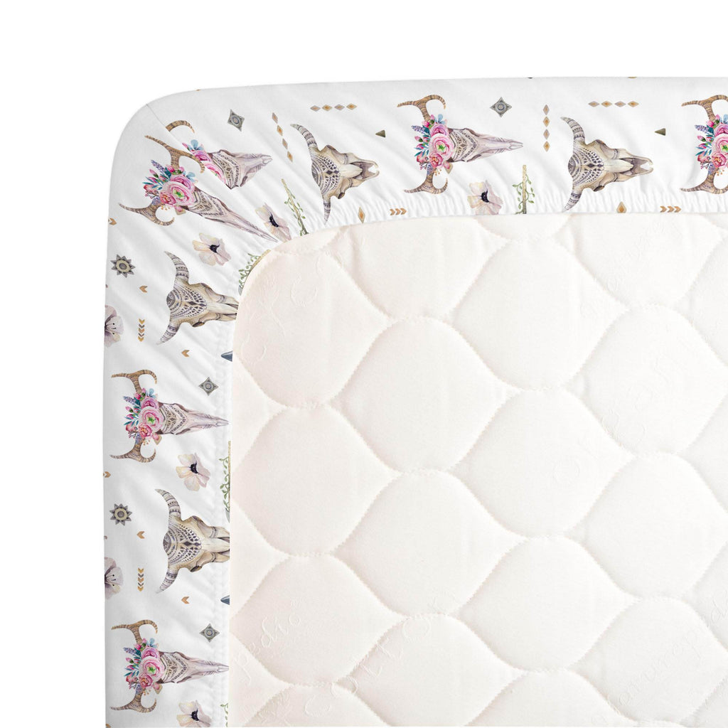 Product image for Pink Boho Crib Sheet