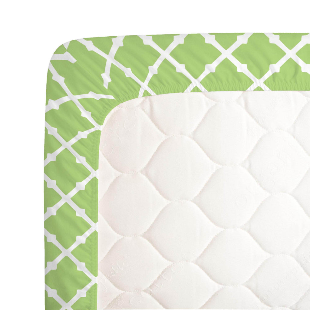 Product image for Kiwi Lattice Crib Sheet