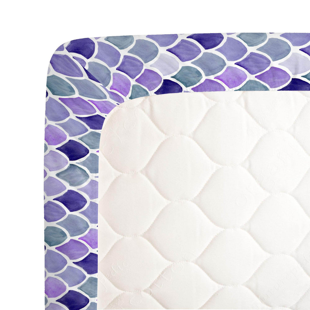 Product image for Lilac Watercolor Scales Crib Sheet