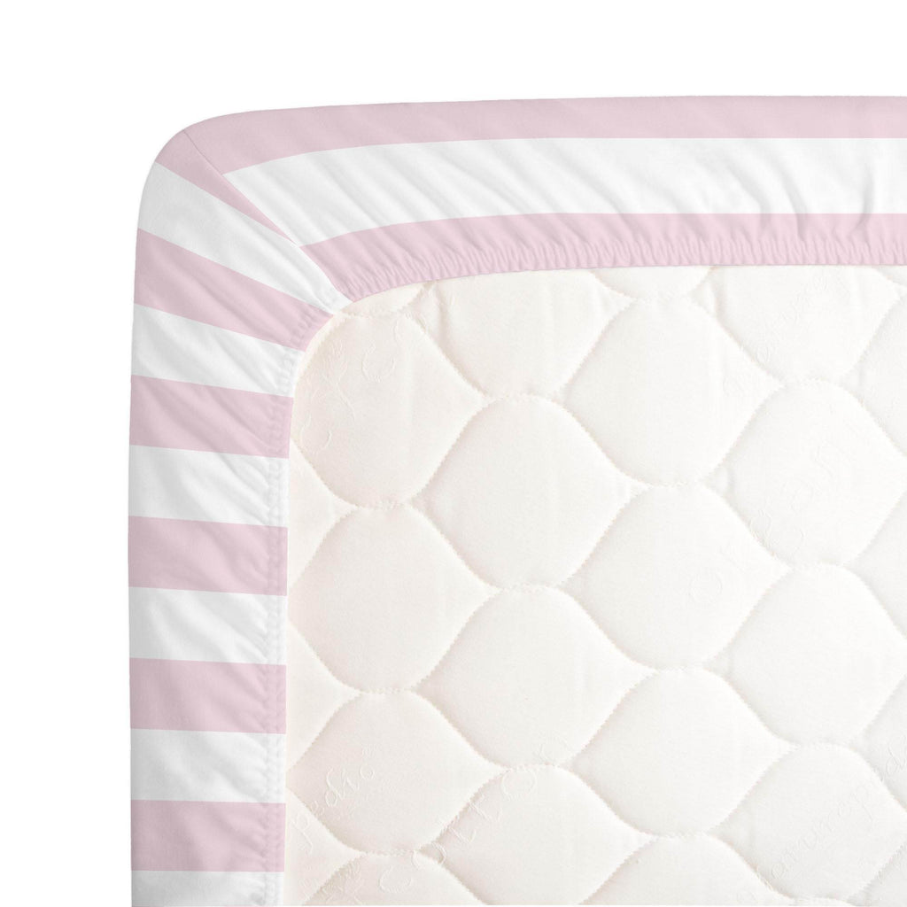 Product image for Pink Stripe Crib Sheet