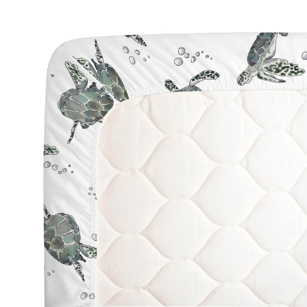 Product image for Sea Turtles Crib Sheet