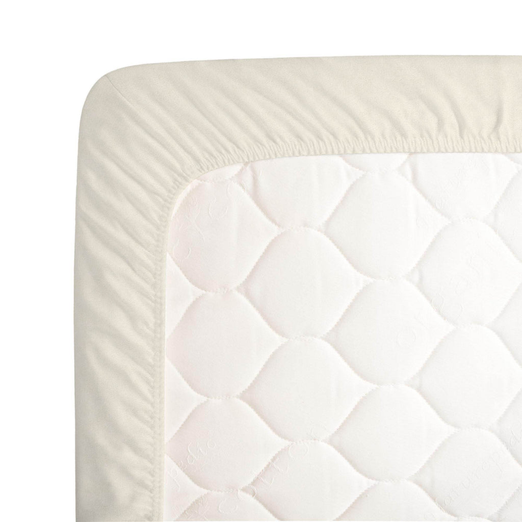 Product image for Solid Cream Minky Crib Sheet