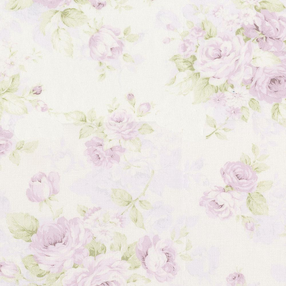 Product image for Lavender Floral Crib Skirt 3-Tiered