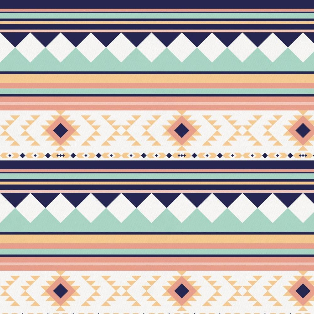 Product image for Navy and Mint Aztec Stripe Crib Sheet