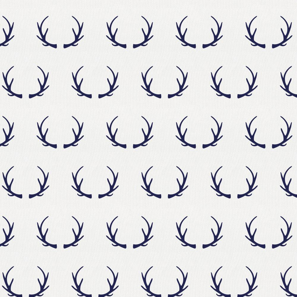 Product image for Windsor Navy Antlers Crib Sheet