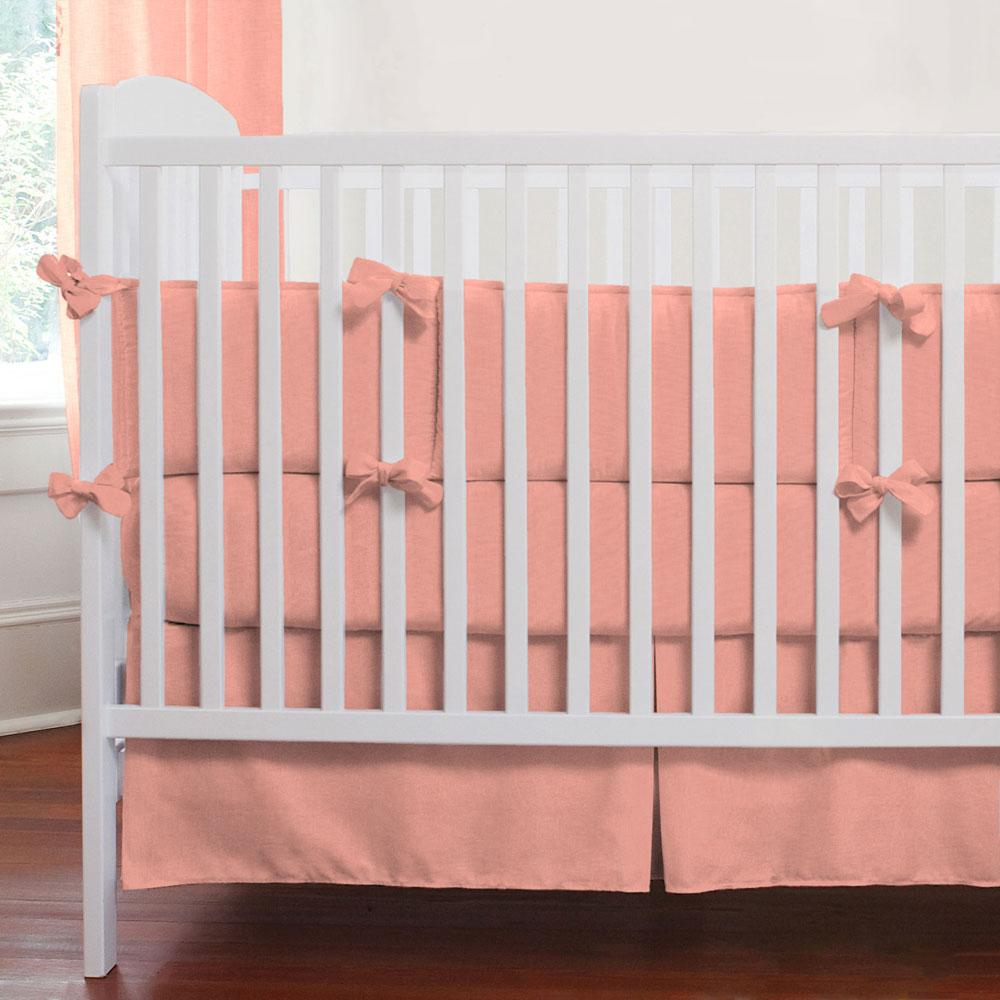 Product image for Solid Light Coral Crib Rail Cover