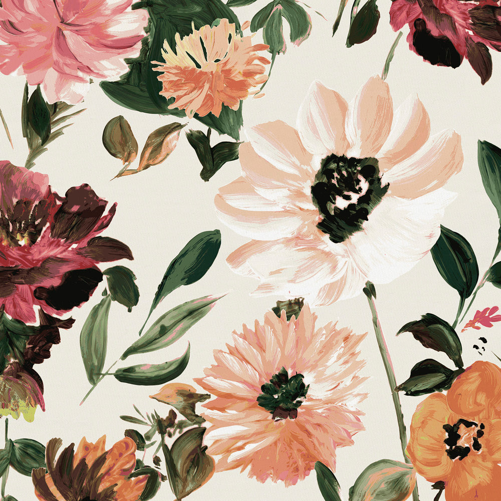 Product image for Moody Floral Crib Sheet
