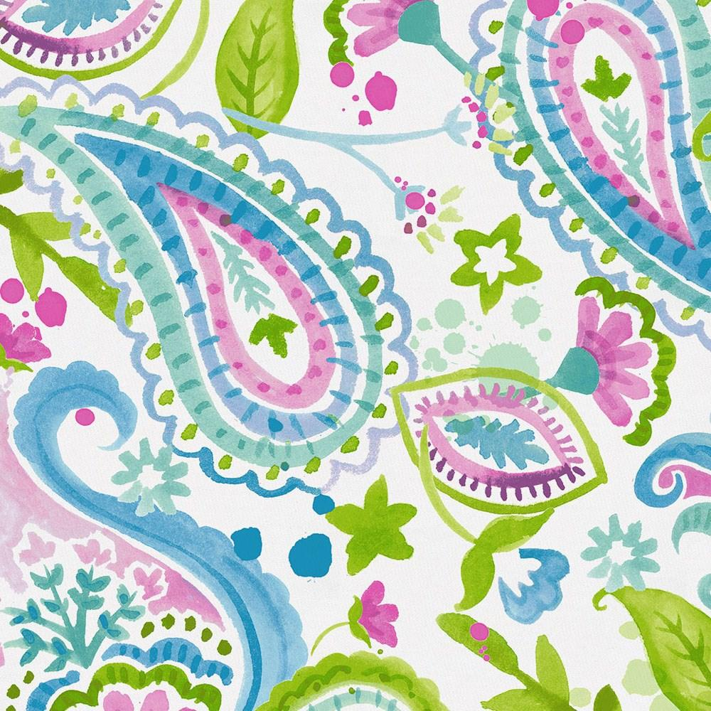 Product image for Orchid Painted Paisley Baby Blanket