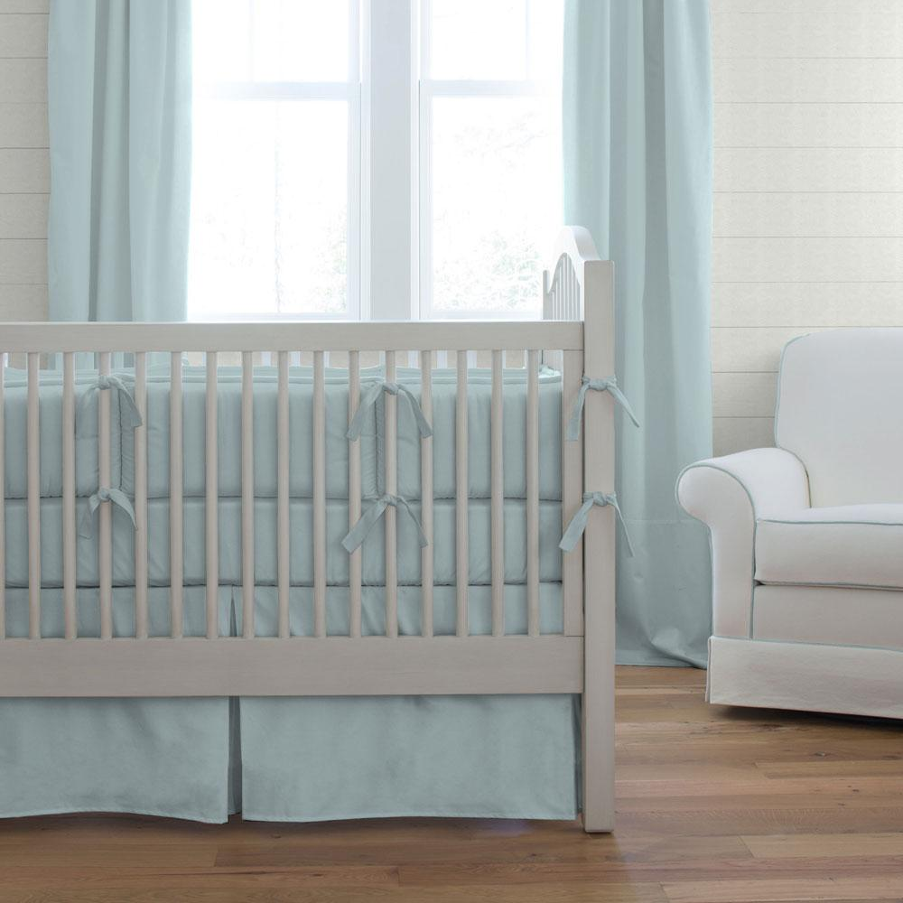 Product image for Solid Robin's Egg Blue Crib Rail Cover