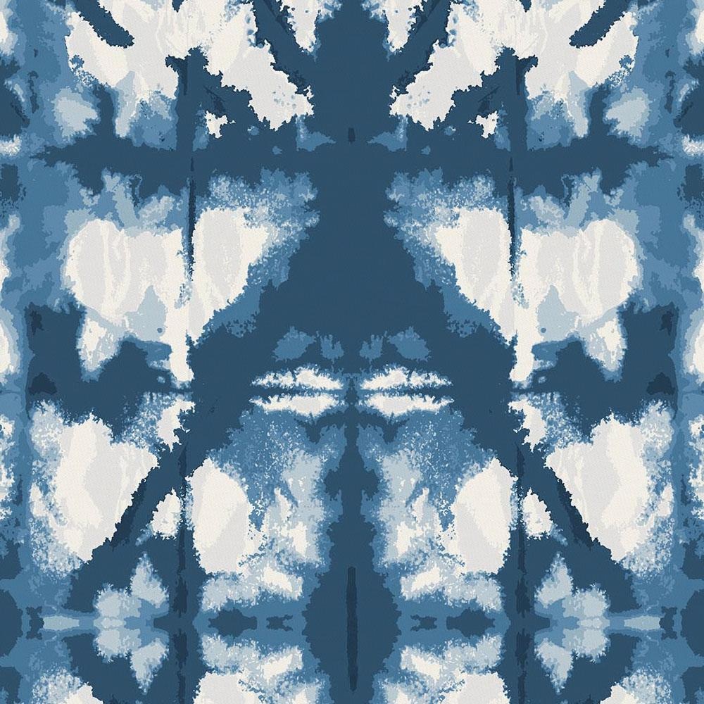 Product image for Indigo Blue Shibori Crib Sheet