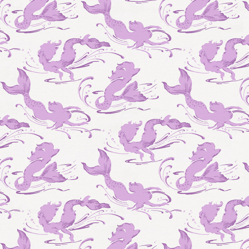Product image for Purple Swimming Mermaids Crib Sheet