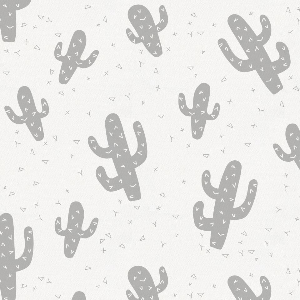 Product image for Silver Gray Cactus Crib Sheet