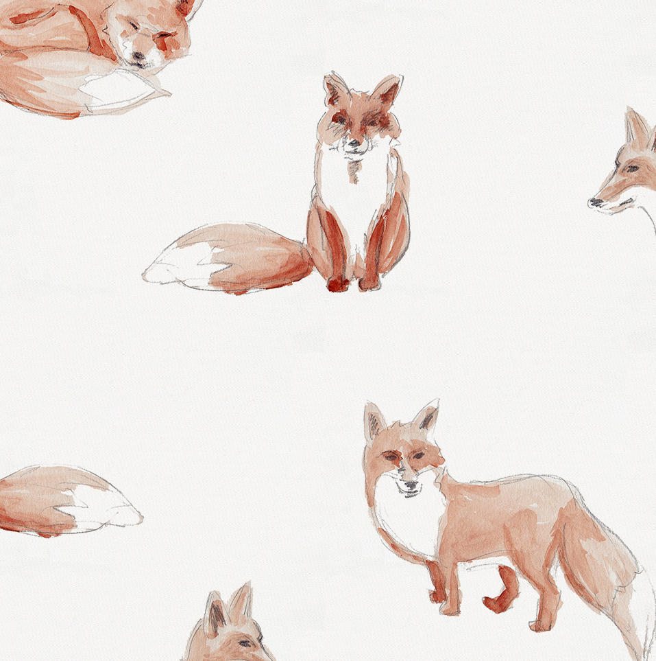 Product image for Watercolor Fox Crib Sheet