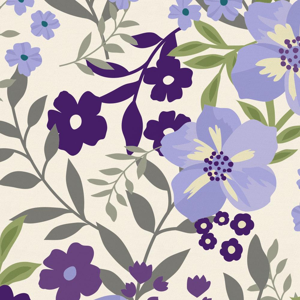 Product image for Lavender Floral Tropic Baby Blanket